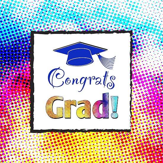 Congrats Grad with Fun Colors\