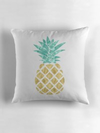 """Golden Pineapple"" Throw Pillows by heartlocked 