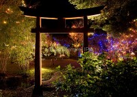 """Japanese Garden Christmas Lights, Mayne Island, BC"" by ..."