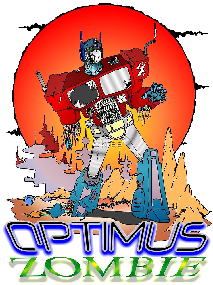 Pullover Vs Pullover Optimus Prime Zombie By Skree Redbubble