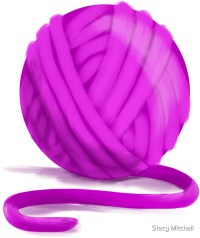 """Ball of Purple Magenta Yarn"" Stickers by Stacy Mitchell ..."