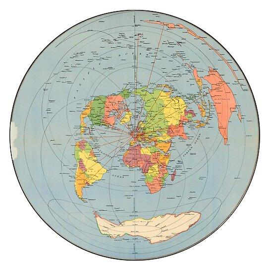FLAT EARTH - Air Map 1947 London\
