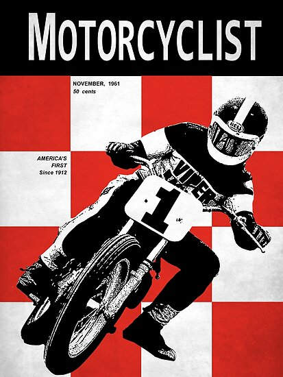 Classic Motorcycle Magazine Cover\