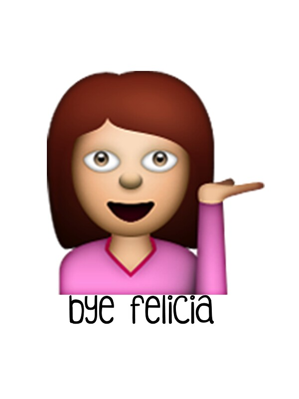 Black Removable Wallpaper Quot Bye Felicia Emoji Quot Stickers By Worldofcupcakes Redbubble