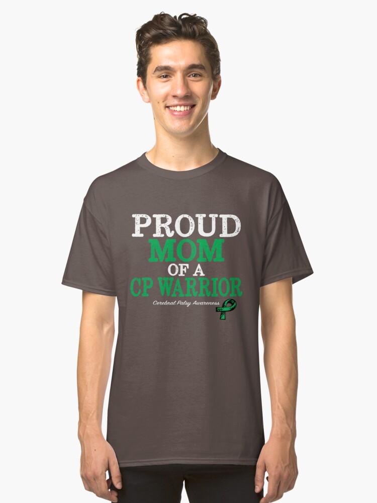 Proud Mom Cerebral Palsy Awareness With Green Ribbon\ - ma cerebral palsy
