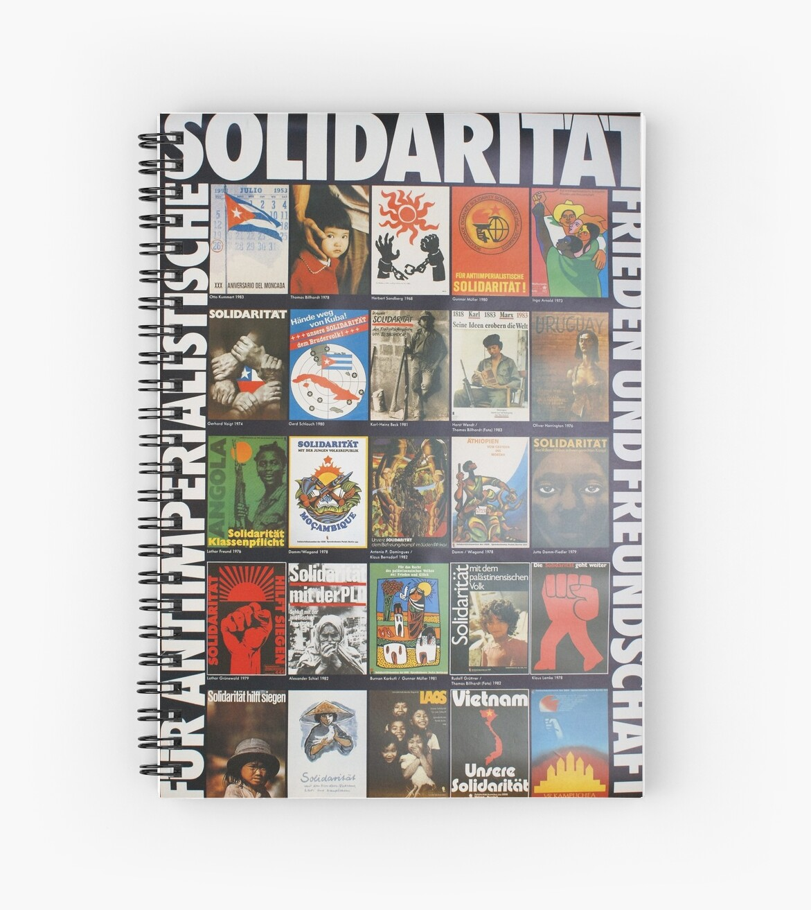 Poster Ideen Anti Imperialist Solidarity East German Antifa Poster Spiral Notebook By Remo Kurka