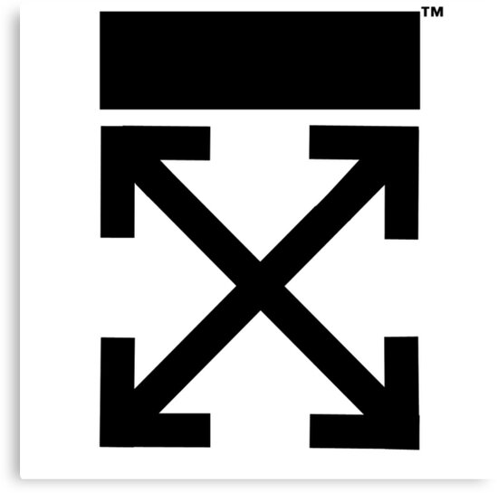 Iphone X Wallpaper Transparent Quot Off White Logo Arrows Quot Canvas Prints By Picture Of