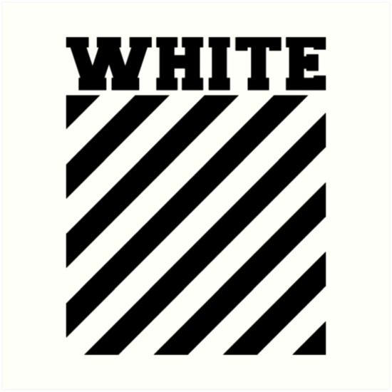 Black And White And Red Wallpaper Quot Off White Logo Stripes Quot Art Prints By Lil Esketit Redbubble