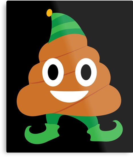 Elf Poop Emoji Emoticon Christmas \