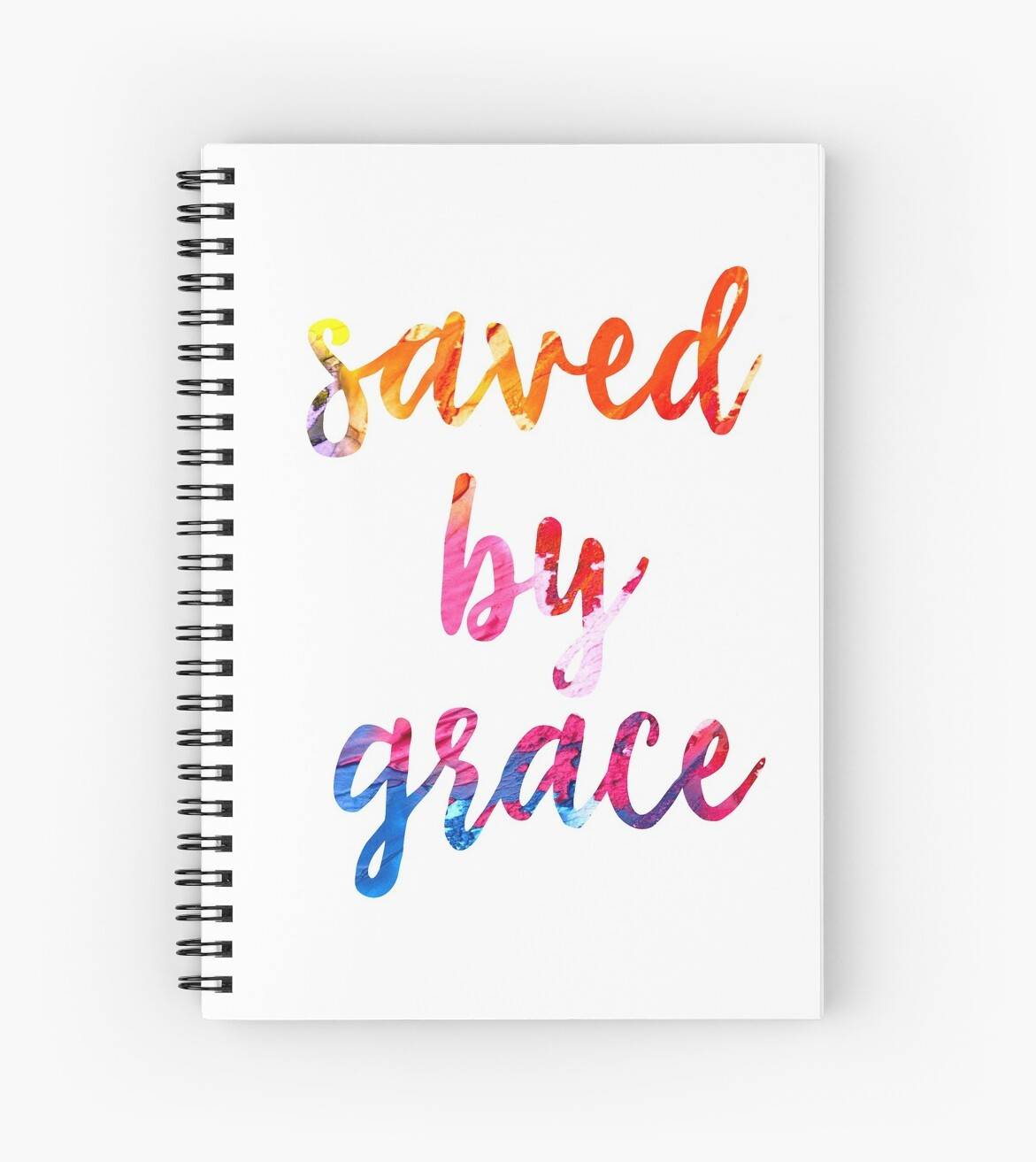 Quotes About Arte Saved By Grace Christian Quotes Arte Colorido De La Acuarela Cuaderno De Espiral By Christianstore