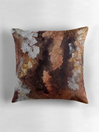"""Copper and Silver "" Throw Pillows by nexus7 