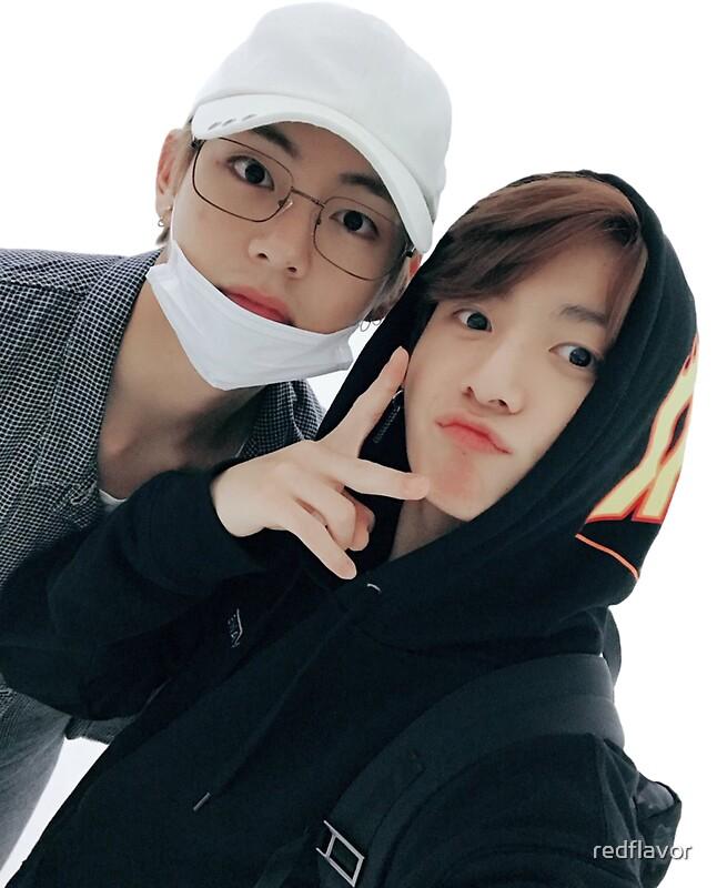 Jungkook Wallpaper Iphone Quot Taekook Taehyung And Jungkook Selfie Sticker Bts