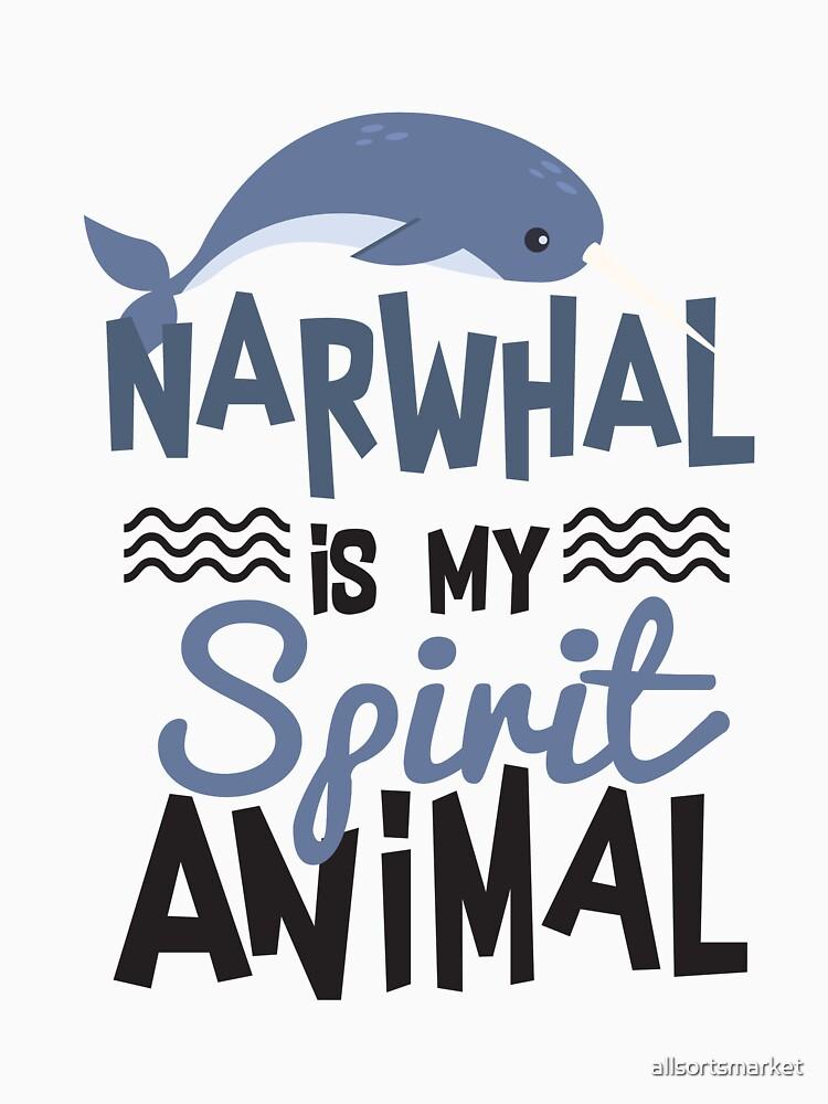 Nice Narwhal Is My Spirit Animal Print\
