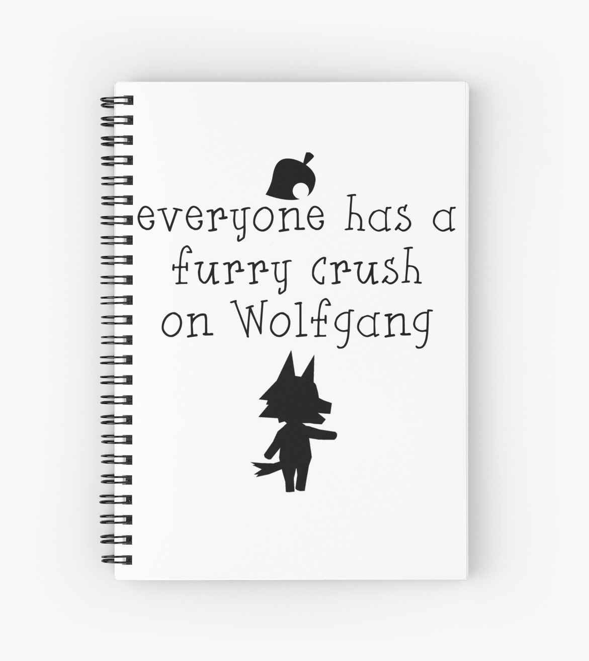 Animal Crush Animal Crossing Everyone Has A Furry Crush On Wolfgang Spiral Notebook By Theatre Thoughts