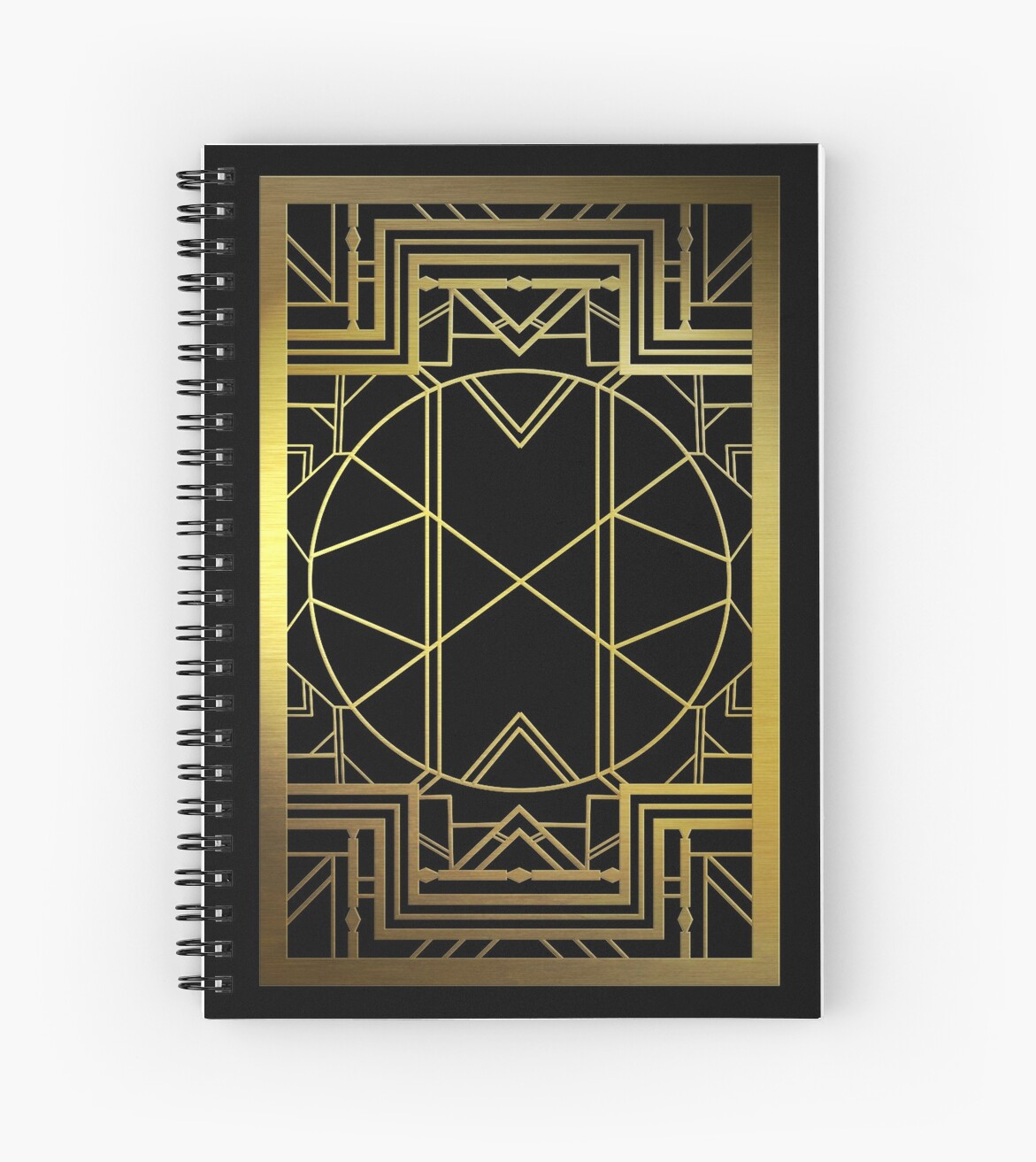 Art Deco Style Notebook Art Deco Great Gatsby Style Spiral Notebook By Naexdesigns