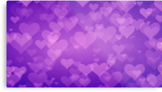 Soft Purple Hearts On Graduated Background Valentines Day Concept