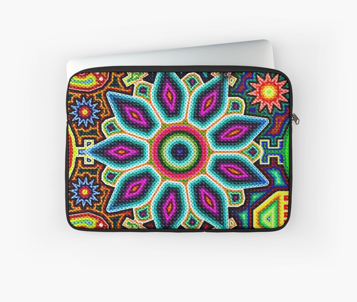 Arte Huichol For Sale Huichol Art Mexico Laptop Sleeve By Sauher