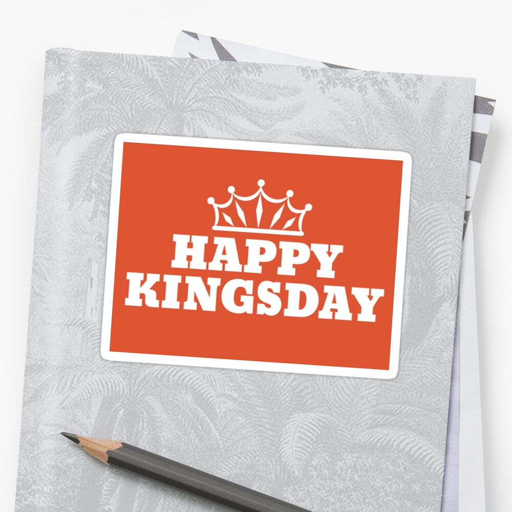 Baby Koningsdag Koningsdag Happy Kingsday Sticker