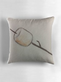 """toasted marshmallow"" Throw Pillows by VICTORIA WONG ..."