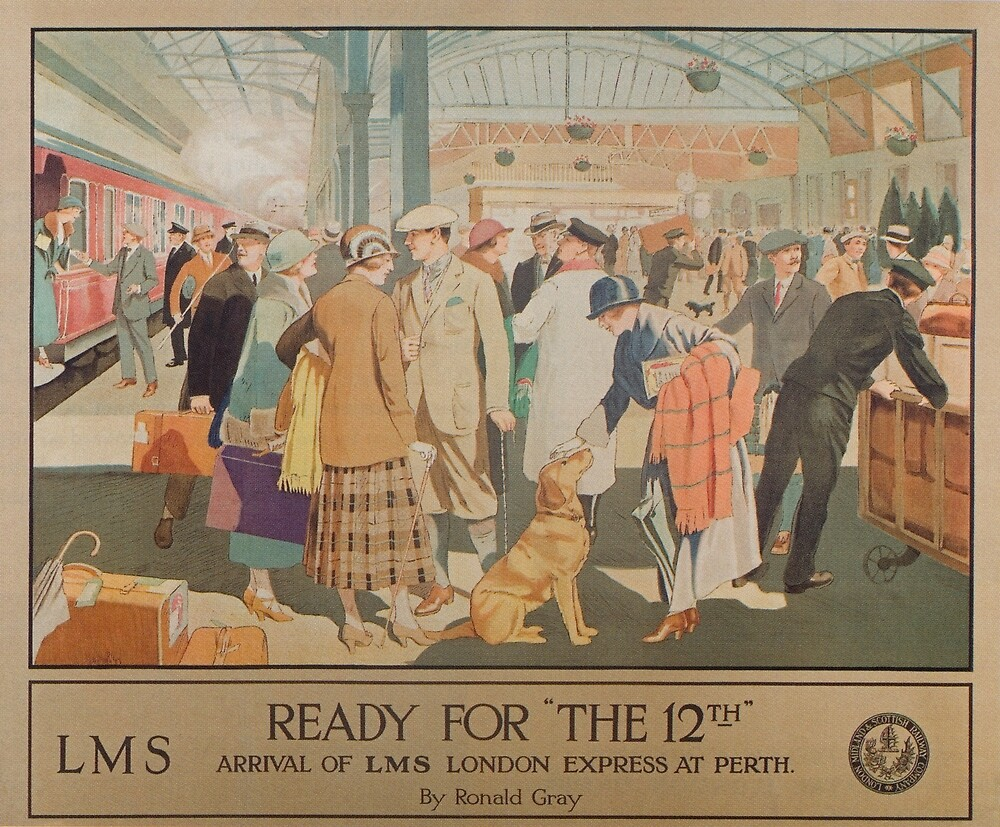 Posters Perth Perth Train Station Scotland Vintage Travel Poster