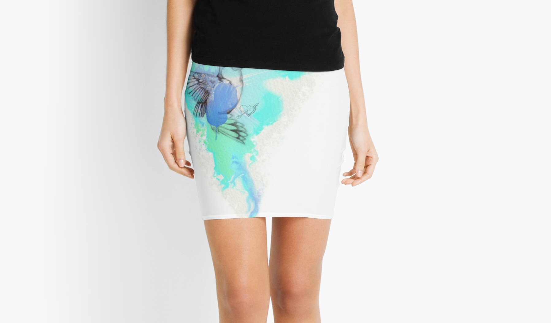 Tattoo Aquarell Kolibri Hummbingbird Tattoo Aquarell Watercolor Mini Skirt By Itsmarshamellow