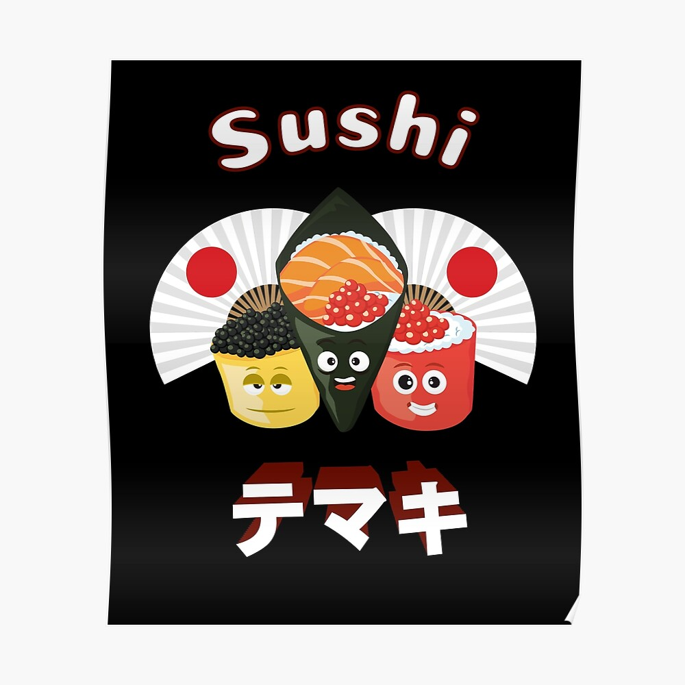 Poster Cuisine Sushi Comic Japan Tshirt Gift Poster