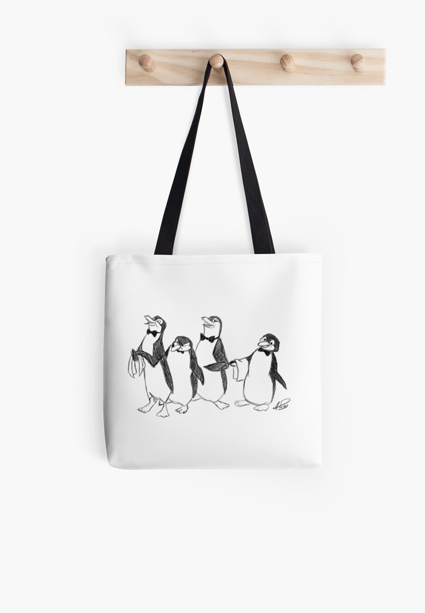 Pingouin Mary Poppins Pingouins De Mary Poppins Sketch Tote Bag By Apparky