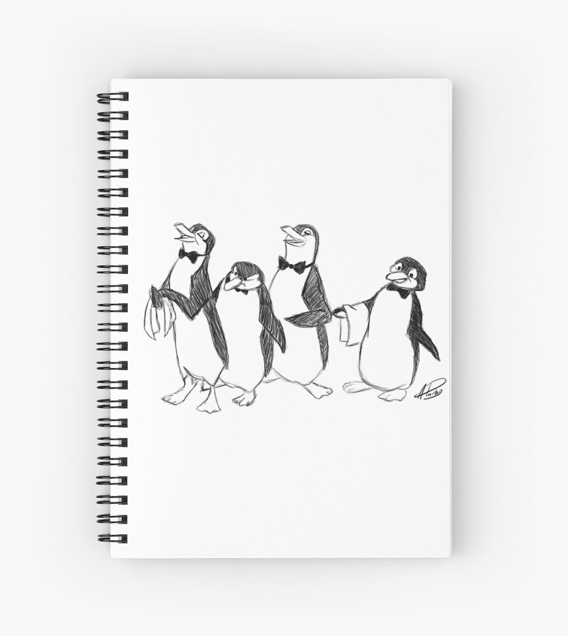 Pingouin Mary Poppins Pingouins De Mary Poppins Sketch Cahier à Spirale By Apparky