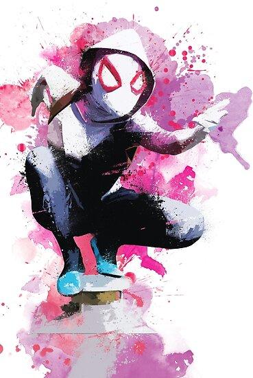 Spider Gwen Iphone Wallpaper Quot Spider Gwen Splatter Art Quot Poster By Messyheroics