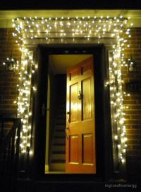 """Christmas lights around red door"" by mycreativenergy ..."