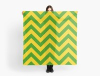 """""""Green and Gold Chevron"""" Scarves by Umbrae 