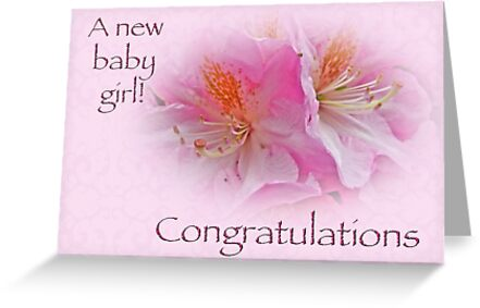 Congratulations New Baby Girl - Azaleas\ - Birth Of Baby Girl