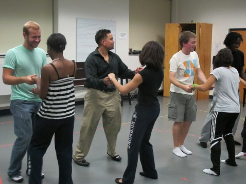 Ballroom dance class - Photo by University of Richmond Living-Learning Programs