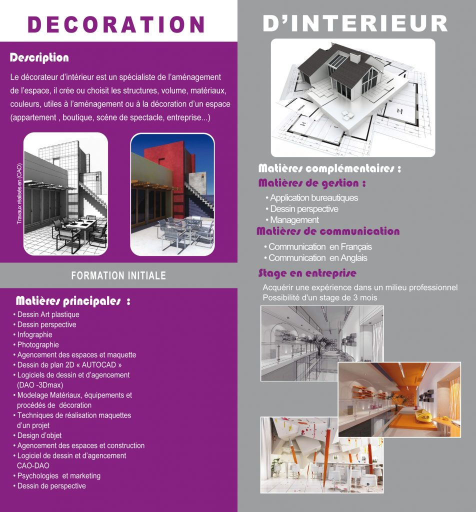 Decoration D'interieur Application Decorateur D Interieur Ihb Art Media Ecole Audiovisuel Casablanca