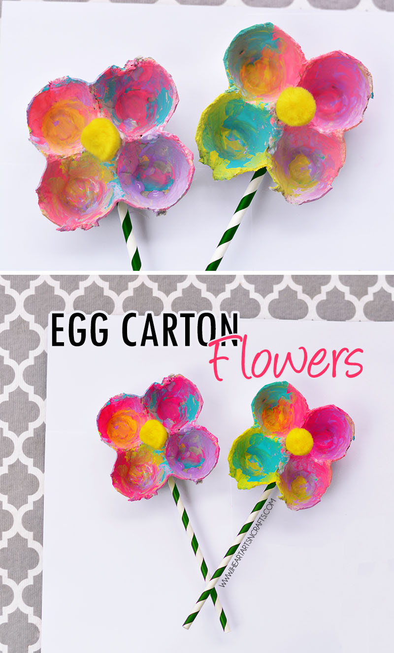 Art And Craft For Preschool Egg Carton Flowers I Heart Arts N Crafts