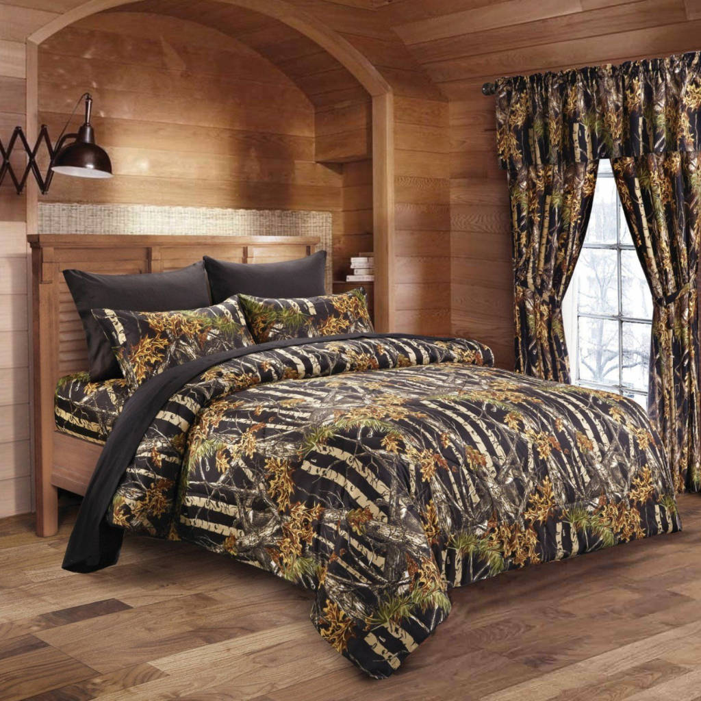 Black Camouflage Wallpaper Black Camo Bed In A Bag Set The Swamp Company