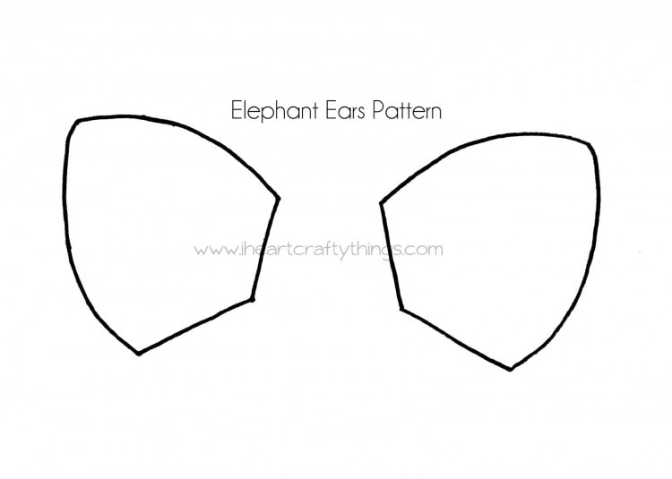 Cupcake Liner Elephant Craft I Heart Crafty Things - elephant cut out template
