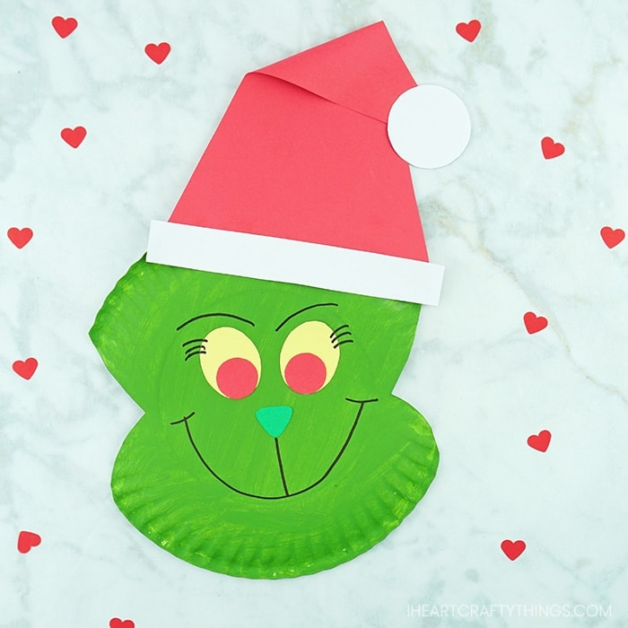 How to Make a Paper Plate Grinch Craft