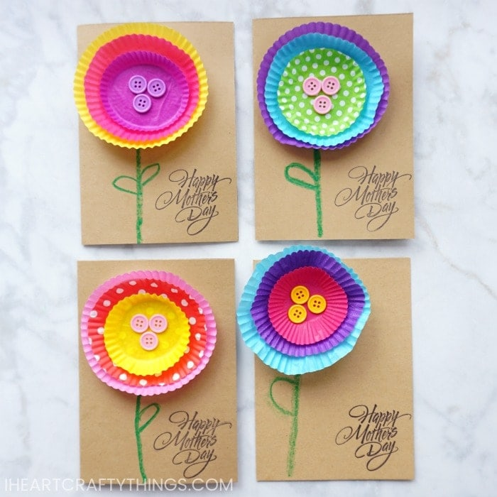 Bright and Cheerful Kid-Made Mother\u0027s Day Card I Heart Crafty Things