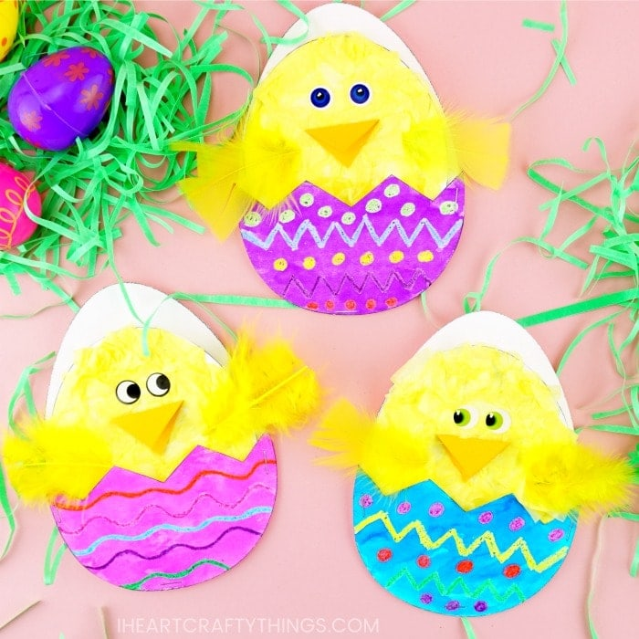 Hatching Chick Craft (with Free Printable Pattern)