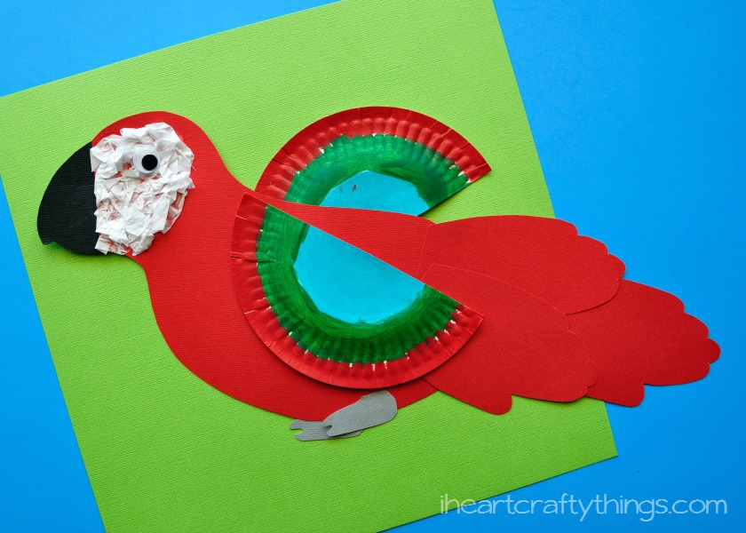 How To Make A Colorful Macaw Craft For Kids With Free