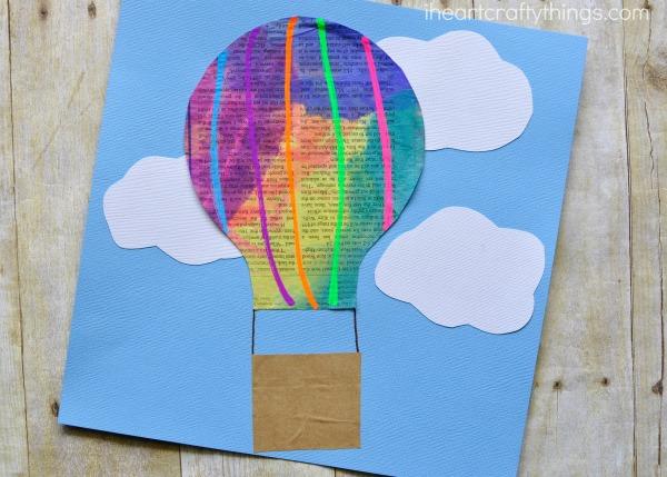 Newspaper Hot Air Balloon Craft For Kids I Heart Crafty