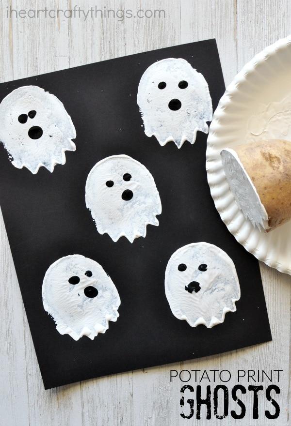 Cute Cupcake Wallpaper Cute And Spooky Potato Stamp Ghost Craft I Heart Crafty