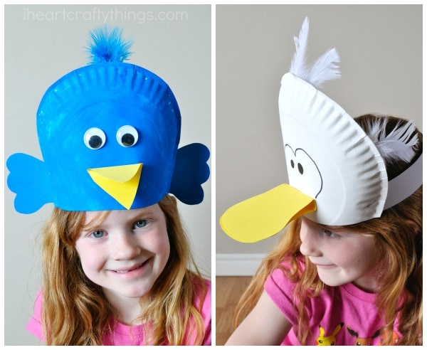 Silly Paper Plate Bird Hats Your Kids Will Love I Heart