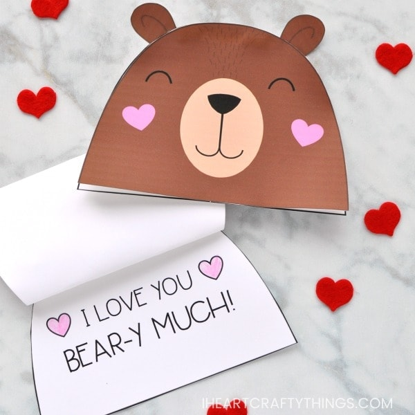 Adorable Bear Valentine Card for Kids I Heart Crafty Things