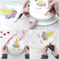 Paper Plate Unicorn Valentine Holder   I Heart Crafty Things