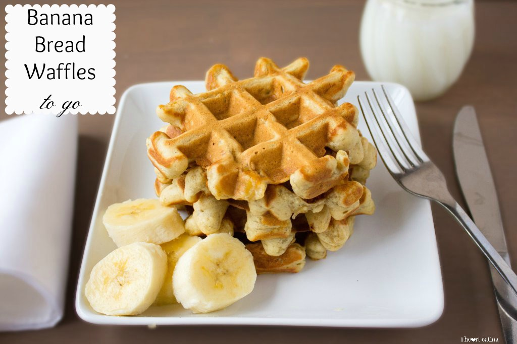 banana bread waffles to go
