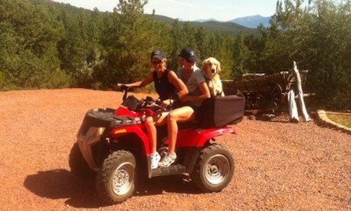 Quad ride in Pine