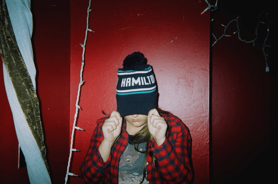 Steph rocking her Hamilton toque from White Elephant. Taken on disposable camera.