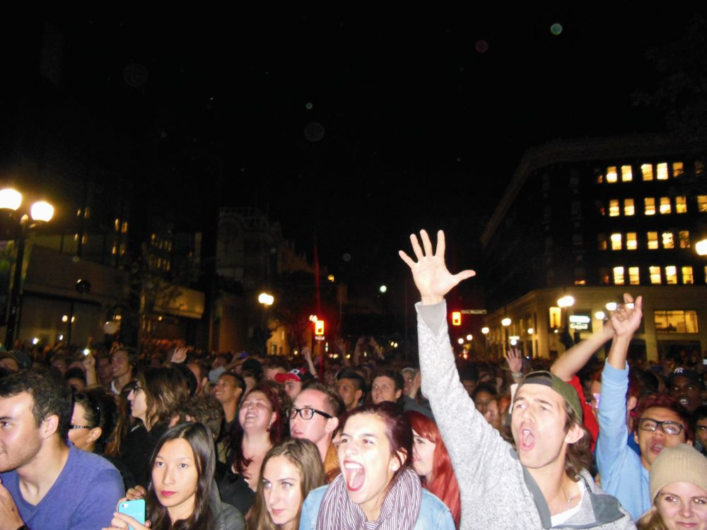 Crowd watching Arkells. Photo by Kristin Archer.